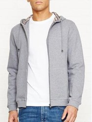 Aquascutum London Luther Club Check Detail Hoody Grey