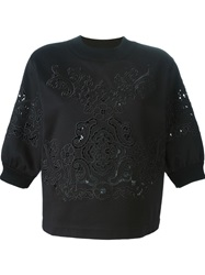 Dolce And Gabbana Embroidered Sweatshirt Black