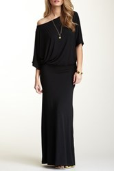 Go Couture Dolman Sleeve Maxi Dress Black