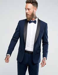 Only And Sons Skinny Tuxedo Suit Jacket Dark Navy
