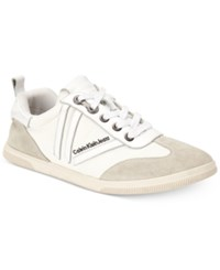 Calvin Klein Jeans Women's Sally Lace Up Sneakers Women's Shoes White