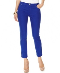Inc International Concepts Cropped Colored Skinny Jeans Goddess Blue