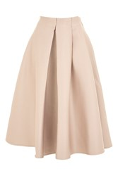 Topshop Petite Pleat Front Prom Skirt Nude
