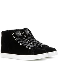 Gianvito Rossi High Loft Velvet High Top Sneakers Black