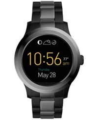 Fossil Q Men's Founder 2.0 Touchscreen Two Tone Stainless Steel Bracelet Smart Watch 46Mm Ftw2117 Black