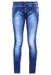 Replay Denice Relaxed Fit Jeans Washed Dark Blue Blue Denim