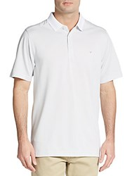 Callaway Bird Hairline Striped Polo Shirt Bright White