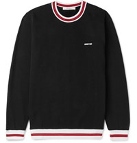 Givenchy Fleece Back Cotton Jersey Sweatshirt Black