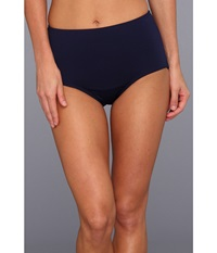 Tyr Solid High Waist Bikini Bottom Navy Women's Swimwear