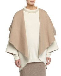 Eileen Fisher Oversized Shawl Collar Cocoon Jacket Soft White Almond
