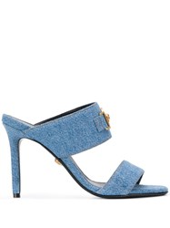 Versace Icon Denim Sandals Blue