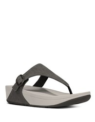 Fitflop The Skinny Canvas Toe Thong Sandals Black