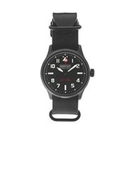 Barbour Bywell International Leather Watch Black