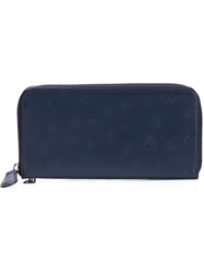Lucien Pellat Finet Lucien Pellat Finet Monogram Embossed Wallet Blue