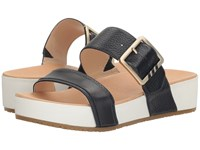 Dr. Scholl's Frill Original Collection Navy Leather Women's Sandals Blue
