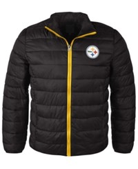 G3 Sports Men's Pittsburgh Steelers Packable Quilted Jacket