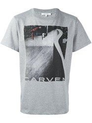 Carven Skater Print T Shirt Grey