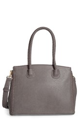 Sole Society Lexington Whipstitch Faux Leather Satchel Grey Slate