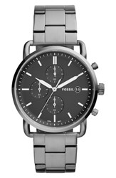 Fossil 'S The Commuter Chronograph Bracelet Watch 42Mm Grey Black Smoke