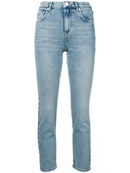 Pinko Cropped Skinny Jeans Blue