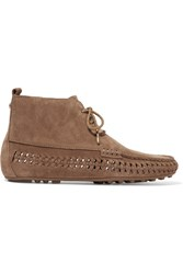 Michael Michael Kors Westley Whipstitched Suede Moccasin Ankle Boots Light Brown