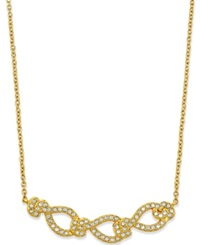 Eliot Danori Gold Tone Crystal Pave Frontal Necklace