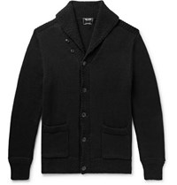 Todd Snyder Shawl Collar Cotton Blend Cardigan Black
