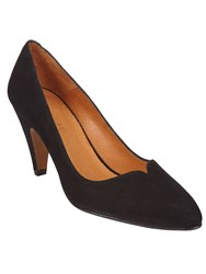 Phase Eight Abby Leather Court Shoes Black