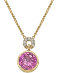 Kate Spade New York Round Crystal Pendant Necklace Fuschia