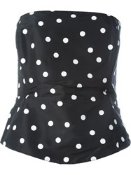 Gianfranco Ferre Vintage Strapless Polka Dot Top Black