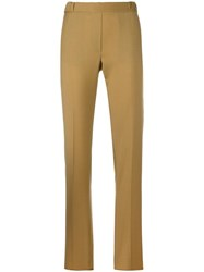 Maison Martin Margiela Mm6 Slim Fit Tailored Trousers Brown