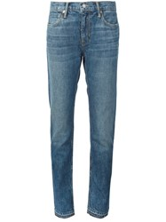 Vince Whiskered Straight Jeans Blue