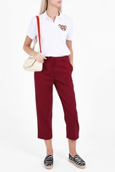 Paul And Joe Sister Wool Crepe Trousers Red