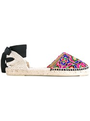 Manebi Ankle Wrap Espadrilles Women Cotton Leather Rubber 37