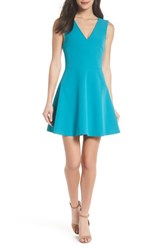 Felicity And Coco Bianca Back Cutout Fit Flare Dress Dark Turquoise