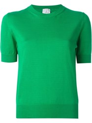 Stella Jean Shortsleeved Sweater Green