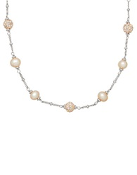Honora Style 4Mm Gold Freshwater Pearl And Sterling Silver Necklace