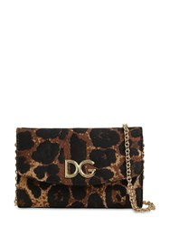 Dolce And Gabbana Leopard Jacquard Bag