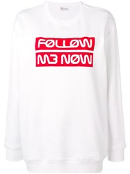 Red Valentino Follow Me Now Sweatshirt White
