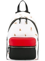 Alexander Wang Pinup Print Backpack White