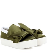 N 21 Satin Sneakers Green