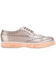Church's Lace Up Shoes Women Leather Patent Leather Rubber 37 Grey