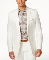 Tallia Men's Valace Linen Sport Coat White Linen