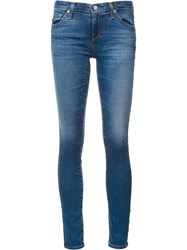 Ag Jeans Bleach Effect Skinny Blue