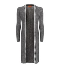 Missoni Pleated Lurex Cardigan Female Grey
