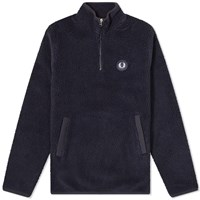 Fred Perry Borg Half Zip Fleece Jacket Blue