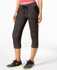 Ideology Cropped Jogger Pants Only At Macy's Charcoal Heather