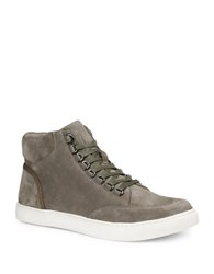 Gbx Slack D Ring Ali G Suede High Top Sneakers Taupe