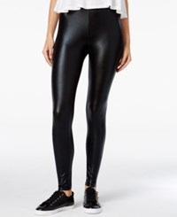 Material Girl Juniors' Faux Leather Leggings Only At Macy's Caviar Black