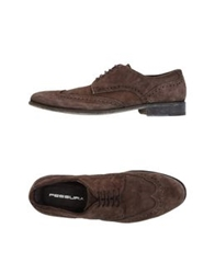 Fessura Lace Up Shoes Dark Brown
